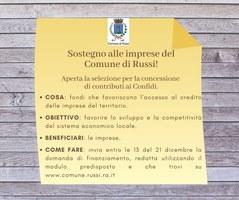 Concessione contributi Confidi alle imprese del Comune di Russi